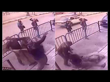 VIDEO: तीसरी मंजिल से गिरा बच्चा, देखिए तीन पुलिस अफसरों ने कैसे बचाया