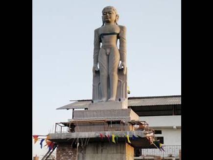 इंदौर में होंगे श्रवणबेलगोला के भगवान बाहुबली के दर्शन, 105 टन वजनी है मूर्ति