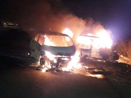 Image result for मध्यप्रदेश में दो कारों की टक्कर से लगी आग