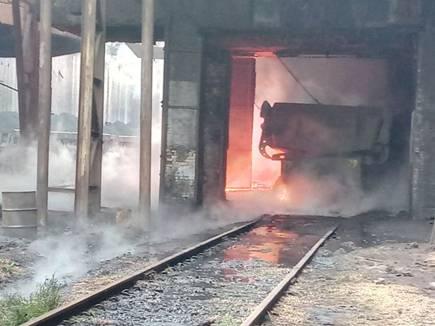 बीएसपी की भट्ठी में ब्लास्ट, 2 हजार टन गर्म लोहा संयंत्र के भीतर फैला