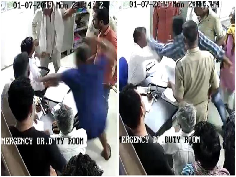 अब भिंड में मरीज के रिश्तेदार ने की डॉक्टर से मारपीट ! Bhind News