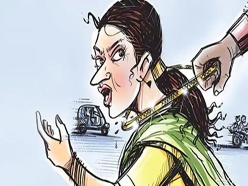 Bhind News : शादी समारोह से लौट रही महिला के गले से बाइक सवार ने मंगलसूत्र झपटा