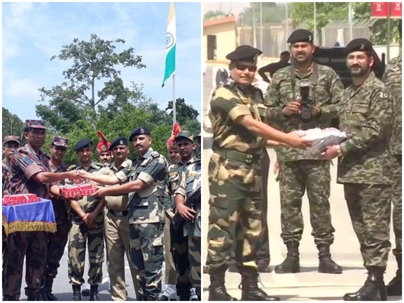 Happy Eid-ul-Fitr 2019 BSF personnel exchange sweets with