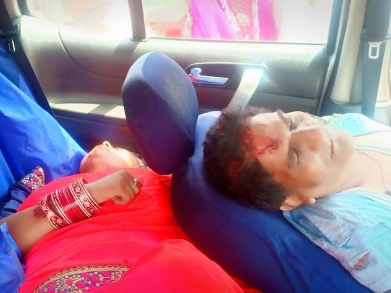 सतना में डिवाइडर से टकराई कार, चार लोगों की मौत ! Satna news