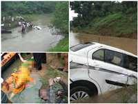VIDEO : महिदपुर के उफनते नाले में 1 दिन पहले डूबी थी कार, आज मिले शिक्षकों के शव