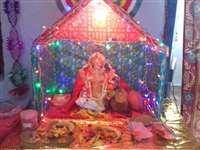 रायपुर 1  : आकर्षक झांकी के बीच विराजे भगवान श्रीगणेश