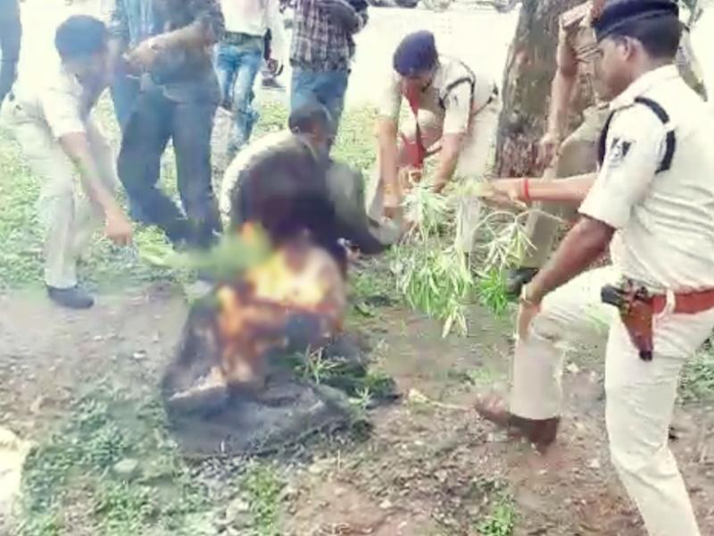 Chhatarpur Crime : SP ऑफिस के बाहर आत्मदाह की कोशिश करने वाले शख्स की मौत
