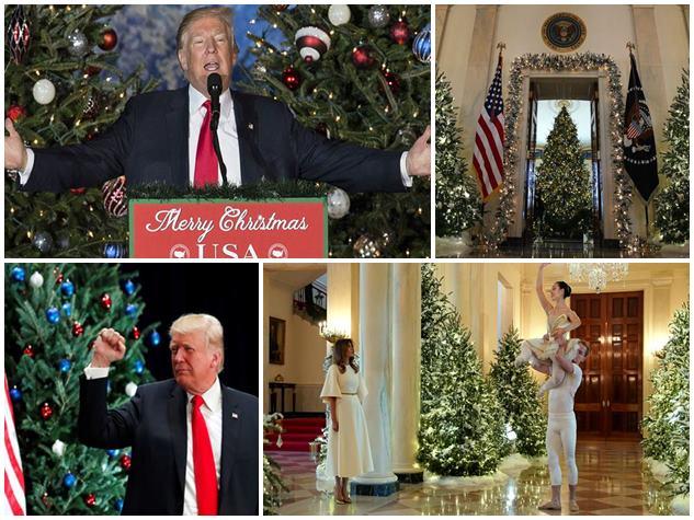 कुछ ऐसी है व्हाइट हाउस में क्रिसमस की तैयारी