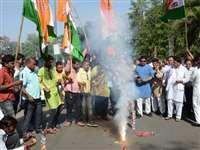 अटेर में कांग्रेस की जीत के बाद मना जश्न