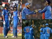 तस्वीरों में देखिए किस तरह रोमांचक मुकाबले में जीता भारत