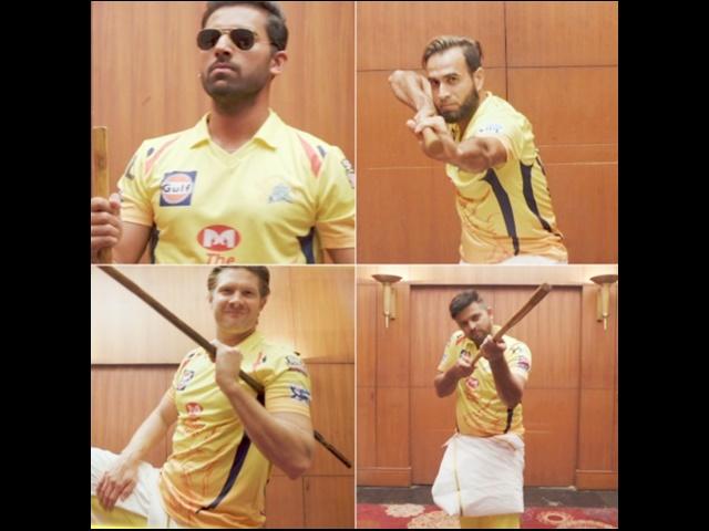 Video IPL 2019: निंजा फाइटर बने चेन्नई के खिलाड़ी, भज्जी ने दिखाए हैरतअंगेज मूव