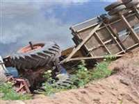 Madhya Pradesh  : विदिशा जिले में मजदूरों से भरी ट्रैक्टर-ट्रॉली पलटी, चार लोगों की मौत