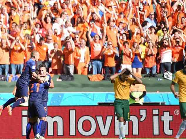 रोमांचक नीदरलैंड्स- ऑस्ट्रेलिया मैच के दृश्य