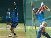 इंदौर वनडे के लिए IND और AUS ने जमकर किया अभ्यास