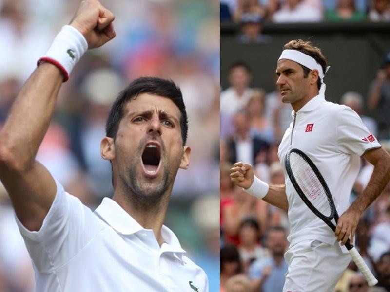 Federer vs Djokovic Wimbledon 2019 Final: आंकड़ों के लिहाज से जोकोविच का फेडरर के खिलाफ पलड़ा भारी