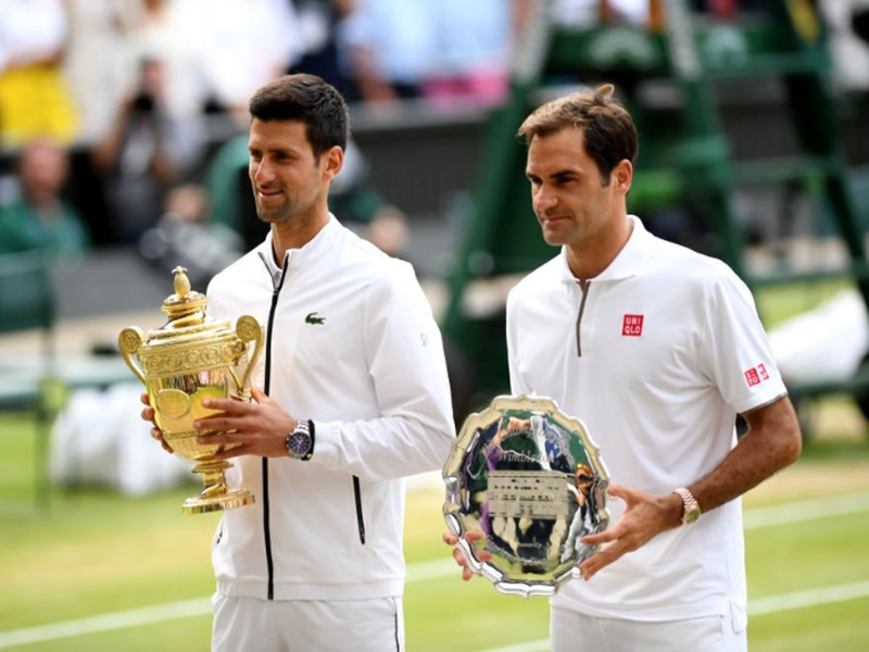 Novak Djokovic vs Roger Federer, Wimbledon 2019 Final:  जोकोविच को पांचवां विम्बल्डन खिताब, कड़े संघर्ष के बाद फेडरर को हराया