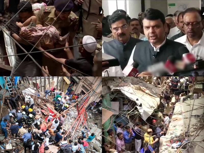 4 मंजिला इमारत ढहने से अब तक 12 मी मौत की सूचना, कईं अब भी दबे ! Mumbai News