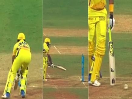 VIDEO: IPL 2018 में स्टंप पर लगी गेंद फिर भी नॉटआउट रहा बल्लेबाज़