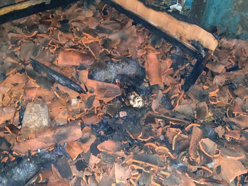 Janjgir News : घर में लगी भीषण आग, दो बच्चों की मौत