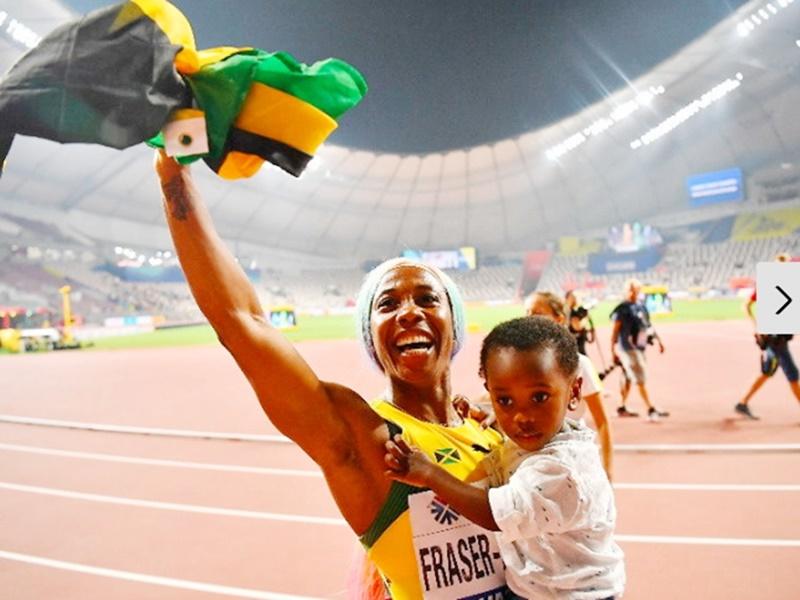 World athletics championship: मां बनने के बाद फ्रेजर ने भी धूम मचाई, चौथा बार बनीं चैंपियन