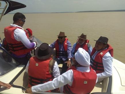 गंगरेल डेम देख केंद्रीय पर्यटन मंत्री बोले- देश का सबसे खूबसूरत आर्टिफिशियल बीच