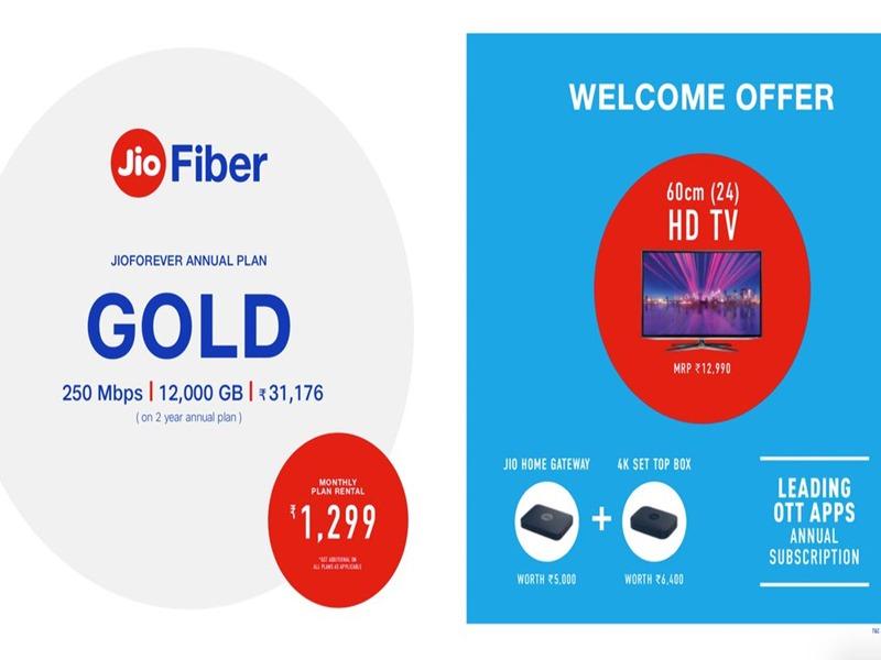 Reliance Jio Fiber Silver and Gold Plans: 849 और 1299 के प्लान्स में मिलेगा यह फायदा