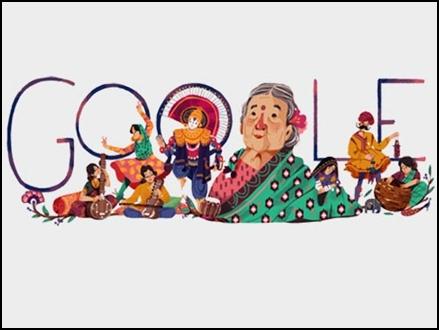 Image result for गूगल ने डूडल बना कर कमलादेवी को किया याद