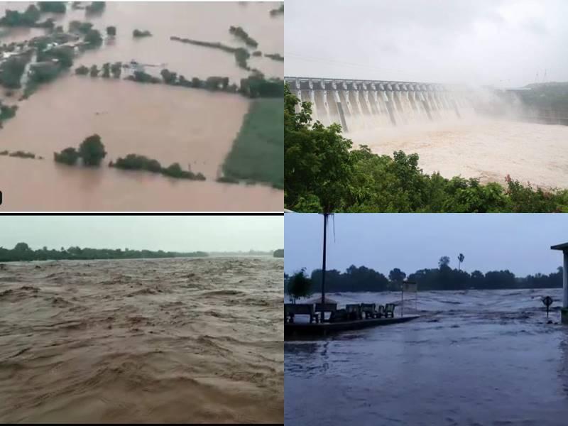 Gujarat Rain: भारी बारिश से उफनी नदियां तो डूबने लगे गांव, कई ट्रेने रद्द