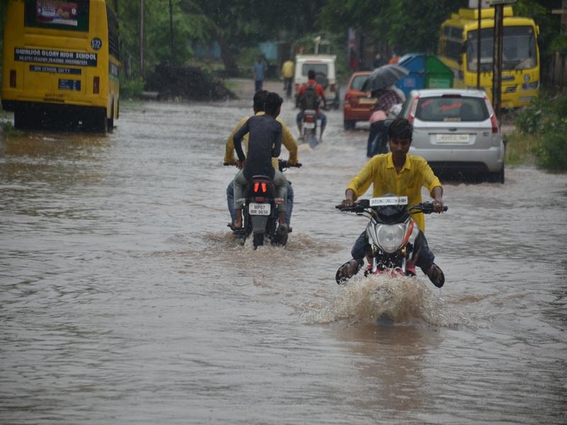 Rain in Gwalior : 9 साल बाद सितंबर में 18 घंटे में 5.7 इंच बारिश