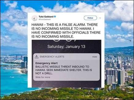 अमेरिका: मिसाइल हमले का अलार्म बजा, लोगों को याद आ गई किम की धमकी