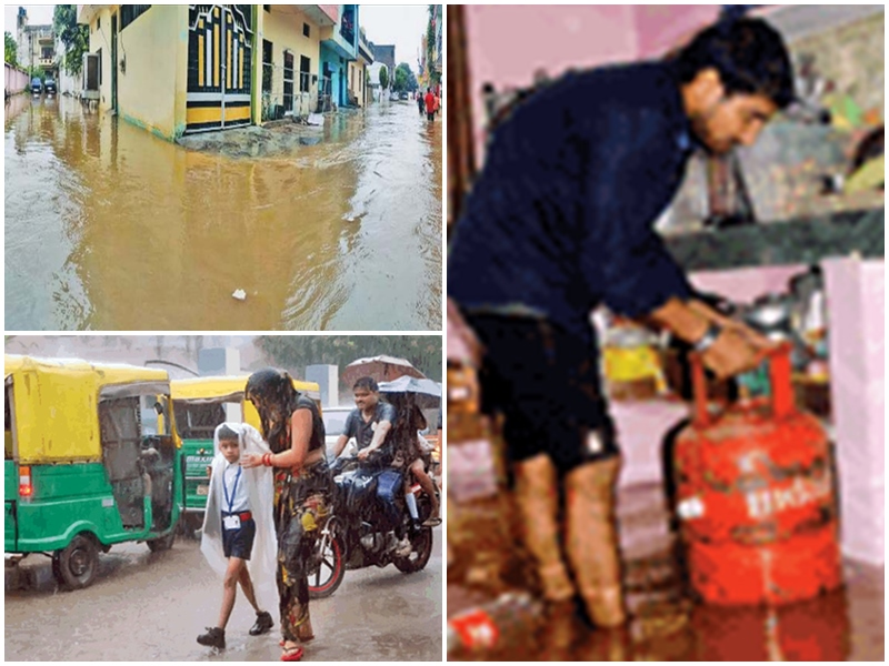 Gwalior Weather Update : जाते हुए मानसून ने दिखाई मेहरबानी, गली-गली पानी ही पानी