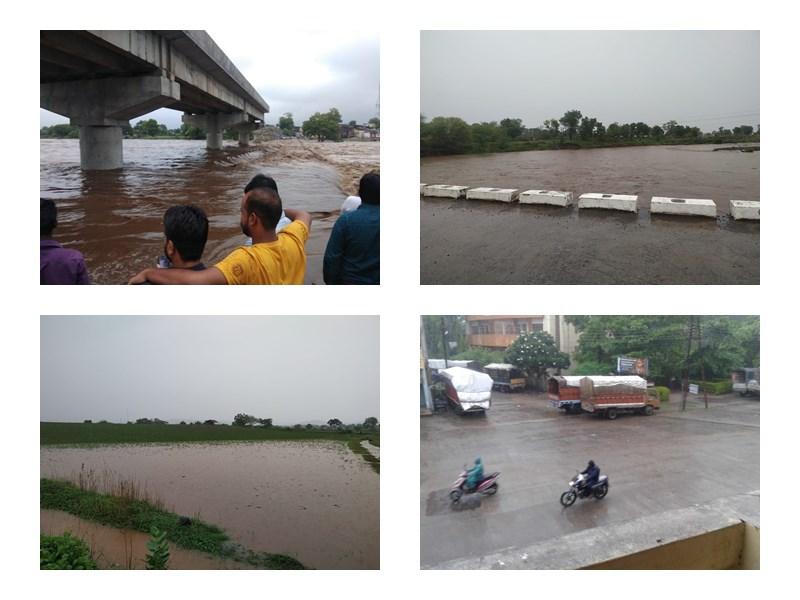 मध्यप्रदेश के खंडवा, खरगोन और बुरहानपुर जिलों में भारी बारिश