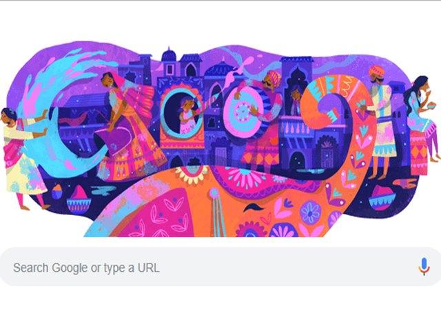 Holi 2019 के रंग में डूबा Google, बनाया रंग-बिरंगा डूडल