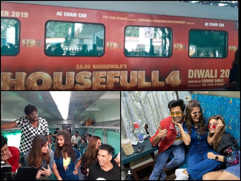 ट्रेन में Housefull 4 का प्रमोशन, पहली बार रेलवे लाया 'प्रमोशन ऑन व्हील्स'
