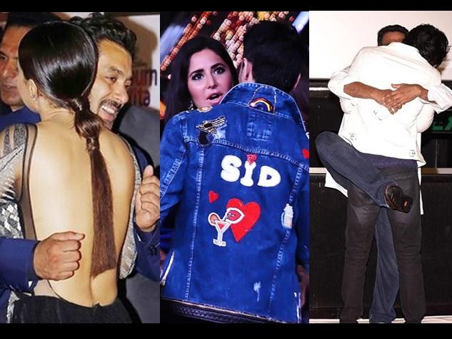 सलमान, कटरीना और रणबीर का Awkward Hug, यहां देखें तस्वीरें