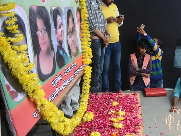 इंदौर बस हादसे में जान गंवाने वाले बच्चों को नम आंखों से दी श्रद्धांजलि