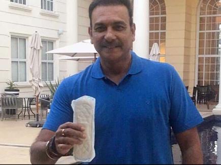 रवि शास्त्री ने पूरा किया 'पैड मैन चैलेंज', कोहली को दी चुनौती