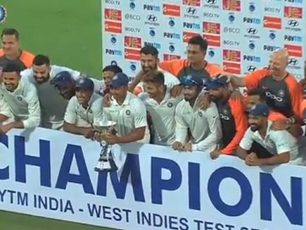 भारत ने दूसरा टेस्ट 10 विकेट से जीता, सीरीज में इंडीज का किया सफाया