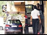 PICS: जाह्नवी कपूर की कार में बैठने के लिए पहली मंजिल से कूद गए ईशान खट्टर