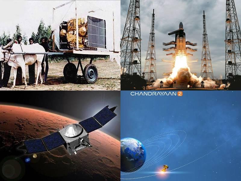 ISRO के 50 साल पूरे, बैलगाड़ी पर पहले सैटेलाइट से शुरू हुआ था सफर, ऐसे पहुंचा चंद्रयान-2 तक