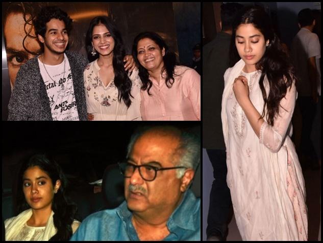 ईशान की फिल्म की स्पेशल स्क्रीनिंग में पहुंचीं जाह्नवी कपूर, देखें तस्वीरेंं