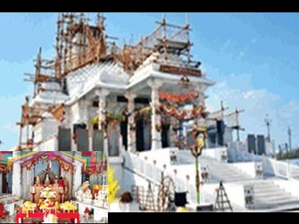 4 हजार वर्गफीट में संगमरमर से बन रहा भव्य मंदिर, 15 मूर्तियां होंगी स्थापित