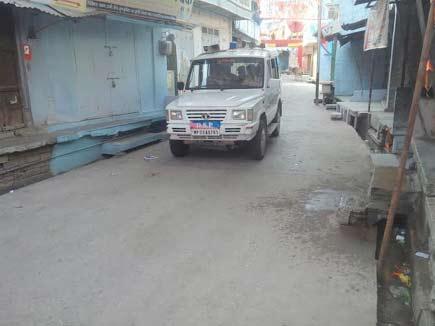 जावद में कर्फ्यू जारी, चप्पे-चप्पे पर पुलिस बल तैनात