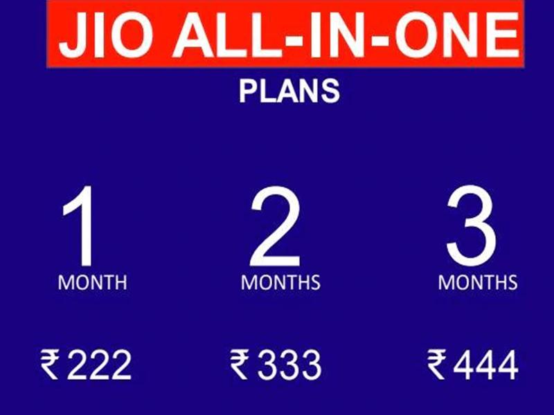 Jio ने लॉन्च किए नए All in one प्लान, मिलेगा 2 जीबी तक डेटा और 1000 मिनट तक की कॉलिंग