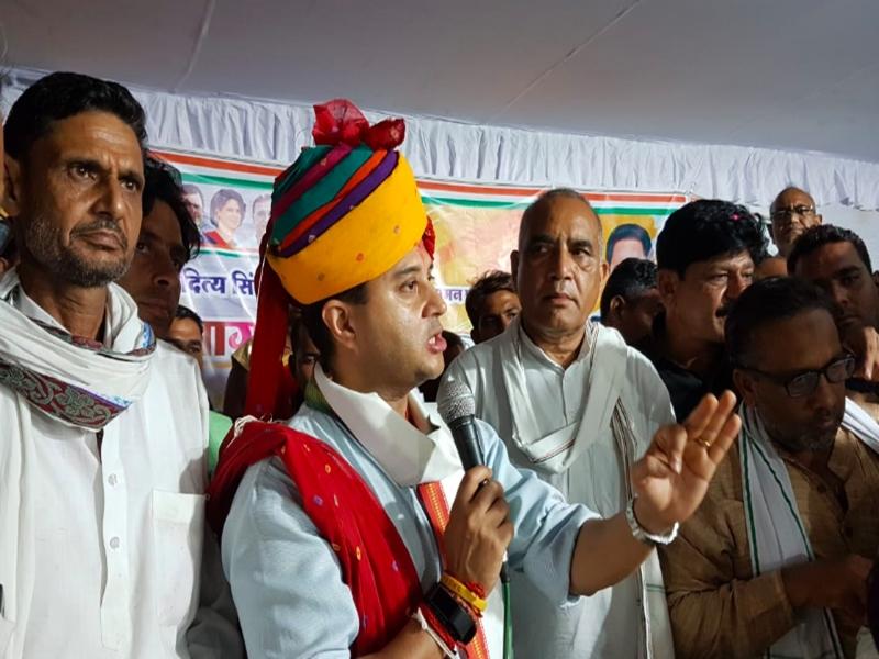श्योपुर में बोले सिंधिया- मेरी सरकार आपकी बात नहीं सुनेगी तो मैं आपकी आवाज बनूंगा