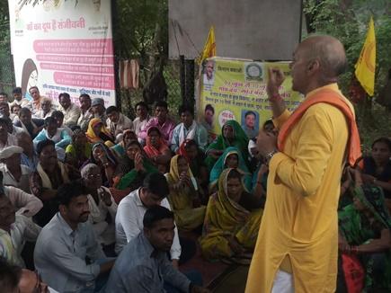 कक्काजी ने किसानों के साथ दी गिरफ्तारी, अस्थाई जेल में ले गए