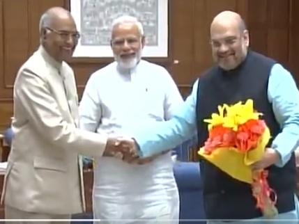 Ramnath Kovind Arrives Delhi meets PM Modi and BJP ...