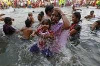 नासिक महाकुंभ : तस्वीरों में पहला शाही स्नान
