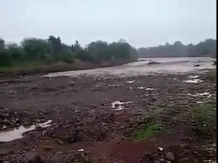 शाजापुर में अचानक उफान पर आ गई लखुंदर नदी, वीडियो हुआ वायरल