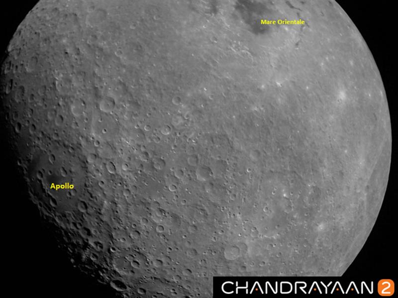 Chandrayaan-2: चंद्रयान-2 ने भेजी चांद की पहली तस्वीर, आप भी देखिये